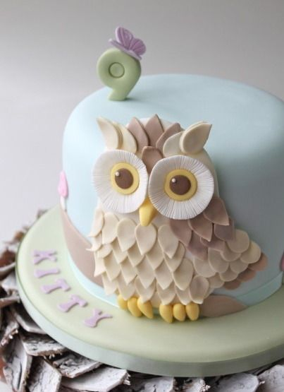 Cake Wrecks - Home - Sunday Sweets: A Peck of Pastel Pretties ( we gotta figure out how to make an owl cake for Katie)