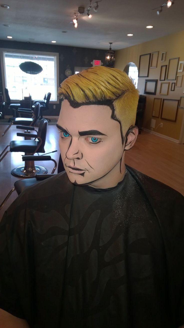 Comic book makeup, awesome