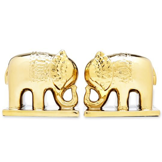 Happy Chic by Jonathan Adler Catherine Set of 2 Elephant Bookends