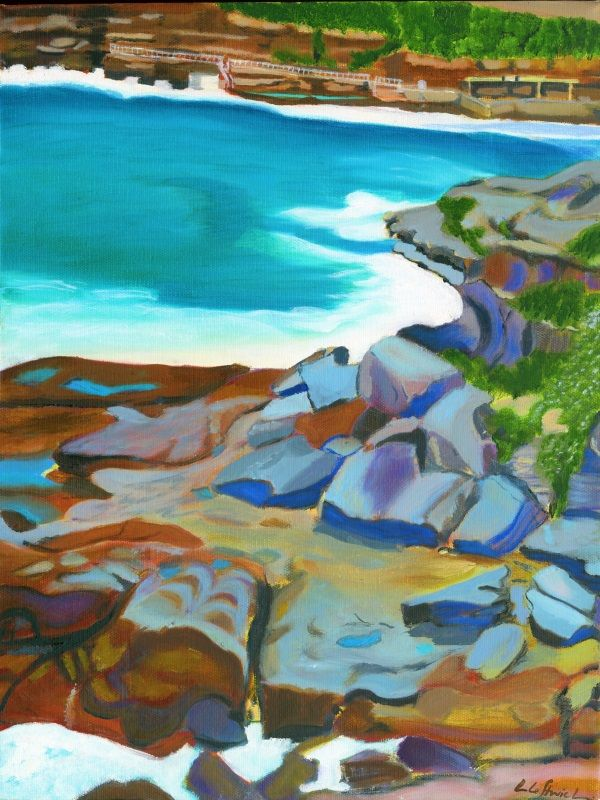 Bronte Rocks - Oil on Canvas 2007