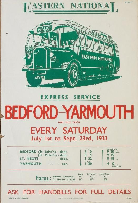 Eastern National 1933, Express Service Bedford-Yarmouth