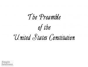 Teach your students the Preamble of the United State Constitution with this Constitution Day activity from Simple Solutions!