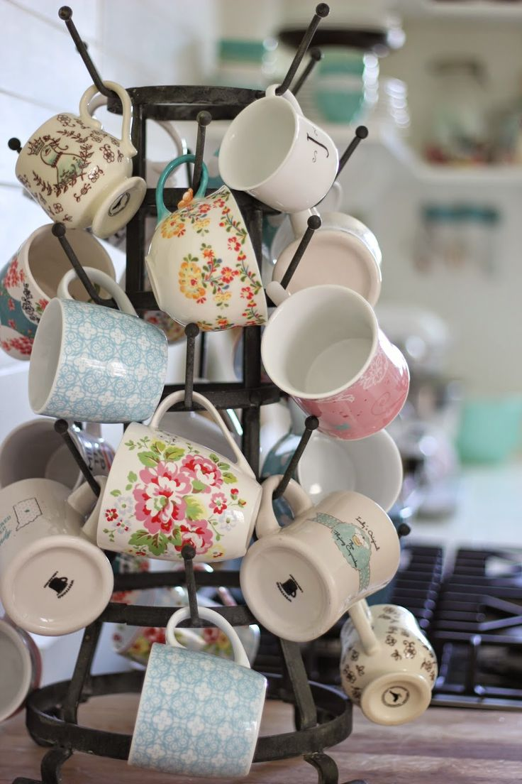 Coffee Cups ooh I need this mug tree the one I have isn't nearly big enough