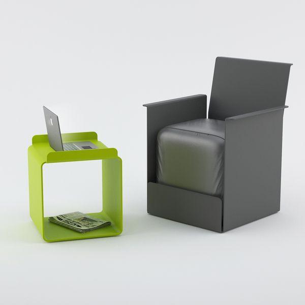Steel Chairs Designed By Russian Designer Maxim Maximov