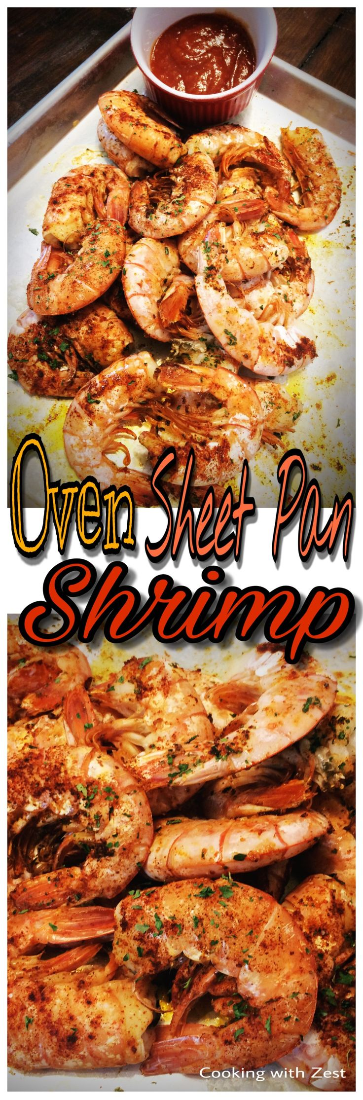 Oven Sheet Pan Shrimp is an EASY and FAST dish to make any night of the week!