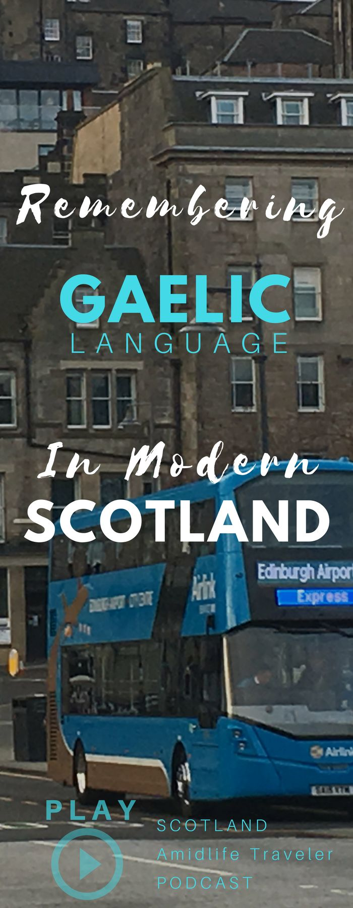 A quick lesson on Scotland's culture and Scottish Gaelic translation. More specifically, about the historic divide and differences between mainland Scotland culture and history knowledge and the more remote Scottish Highland and Hebrides Islands where things like Scottish Gaelic language has remained woven into daily life and regional culture. This travel podcast episode is a is a rare treat that combines a personal story and also a brief audio lesson in Scottish Gaelic translation