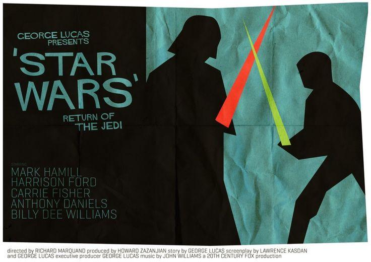 STAR WARS Saul Bass Style Poster Art