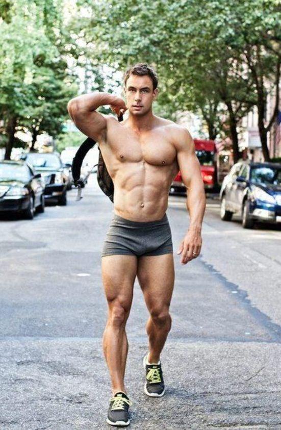 short ripped muscle men