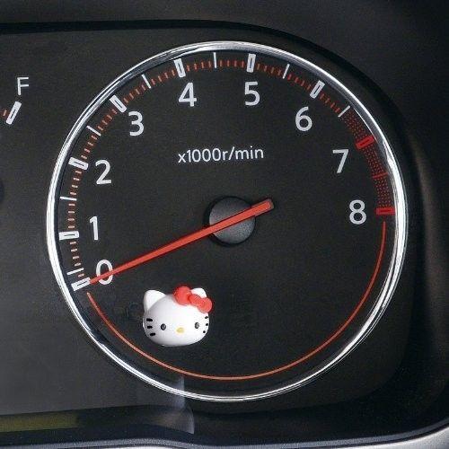 Hello Kitty Car Accessory Face Merter Knob Cap Sanrio Japan Kawaii