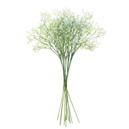 Aleko 12FL001 Artificial Baby Breath Gypsophila Flower Home Decor, White, Set of 12, Multicolor