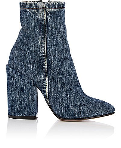 We Adore: The Cap-Toe Denim Ankle Boots from Dries Van Noten at Barneys New York