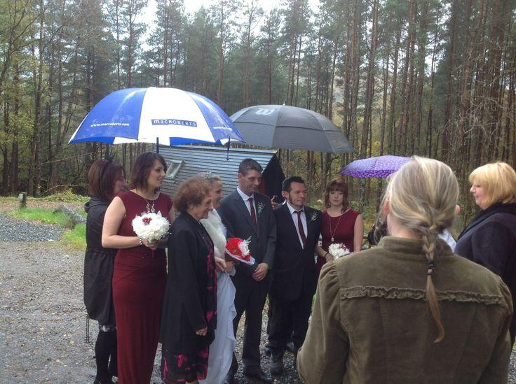 Wigwam Weddings! This one took place at Strathfillan Wigwams, Tyndrum