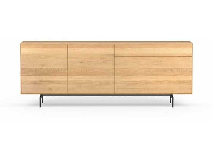 Design Sideboard Aus Eiche Massiv 2 Turen 3 Schubladen Eiche