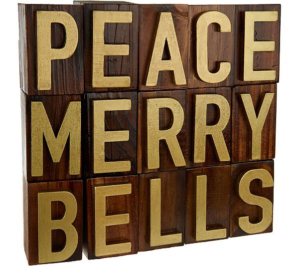Word nerds unite! This set of 15 wooden block letters by ED On Air features three festive words for your holiday display. Page 1 QVC.com