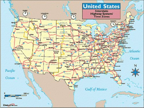 Us Interstate Map Rocky Shores Resort - Us map of interstates