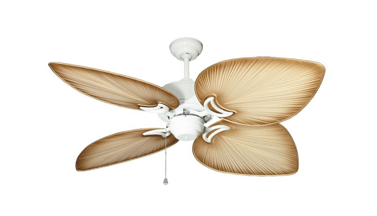 """Bombay Pure White Tropical Outdoor Ceiling Fan - 50"""" Tan"""