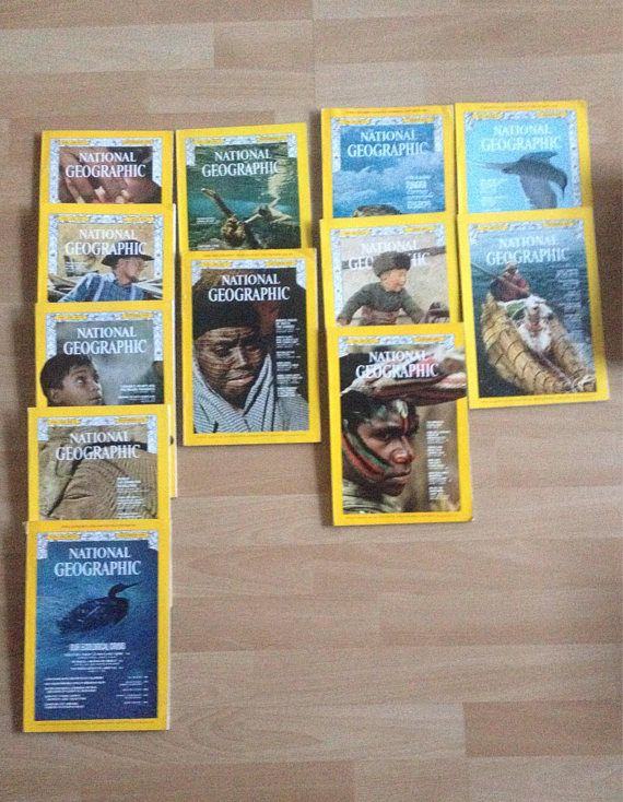 National Geographic magazine various volumes 1970 vintage