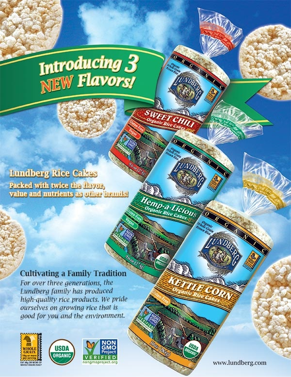 Introducing 3 New Flavors of Lundberg Rice Cakes!  Sweet Chili is my favorite.