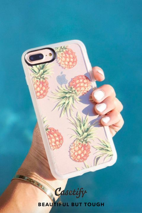 """""""You are the Fine-apple of my Eyes.""""       Most Popular Pineapple Vibes iPhone 7 Cases and iPhone 7 Plus Cases for Pineapple Lovers. For more Tropical Fruit Cases, shop them here ☝☝☝ BEAUTIFUL BUT TOUGH ✨ - Pineapple, Fruit, Yellow, Gold, Beach"""