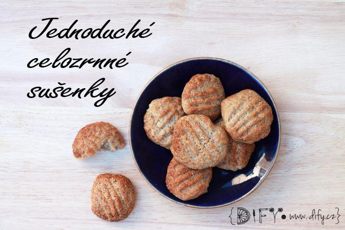 Jednoduché domácí celozrnné sušenky