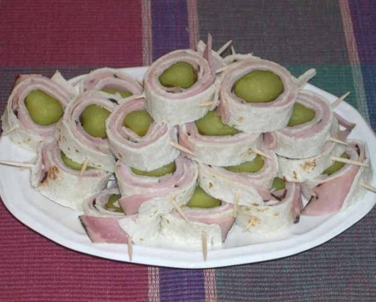 Pickle Ham Roll-up Appetizers Recipe- These are delicious, you could even add flavored cream cheese.
