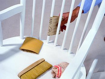 $BILD:Stuhlvorher.left$**Neuen Schwung** Erhielt Dieser Schaukelstuhl.  SchaukelstuhlSelber ...