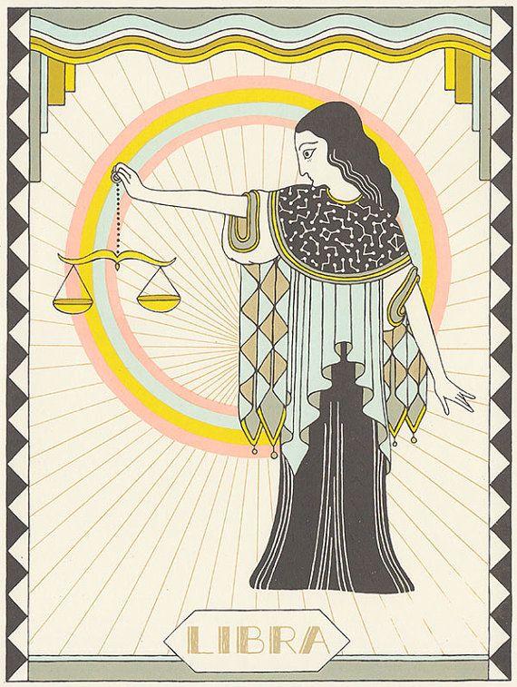 Etsy の Libra astrology silkscreen by animalsleep                                                                                                                                                                                 もっと見る