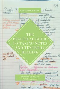 Your go-to guide for how to read a textbook and take notes from it!