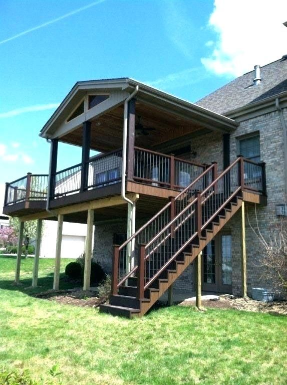 Free Standing Elevated Deck Plans Porch Vs Deck Screened In Deck Screened Porch Designs Porch Design Second Story Deck