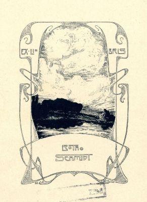 Bookplate by Botho Robert Schmidt for Himself, 1902