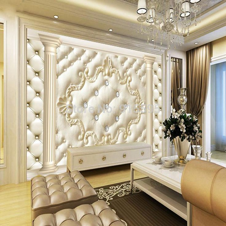Wallpaper 3d bedroom mural roll modern luxury embossed for Luxury 3d wallpaper