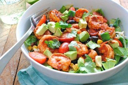 Chipotle Shrimp Salad Bowls. Now? Please??: Dinners Tonight, Shrimp Salad, Salad Recipes, Avocado Salad, Chipotle Shrimp, Bev Cooking, Shrimp Bowls, Chipolt Shrimp, Salad Bowls