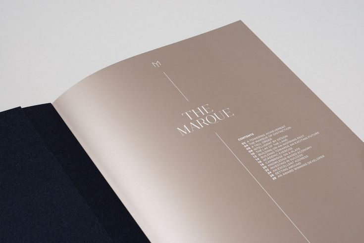 Design by Tom Love The Marque - Luxury Apartments Branding Design Brochure