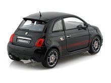 Motor Max 1/24 Scale Fiat Abarth 500 Black Diecast Car Model 73380 - www.DiecastAutoWorld.com 2312 W. Magnolia Blvd., Burbank, CA 91506 818-355-5744 AUTOart Bburago Movie Cars First Gear GMP ACME Greenlight Collectibles Highway 61 Die-Cast Jada Toys Kyosho M2 Machines Maisto Mattel Hot Wheels Minichamps Motor City Classics Motor Max Motorcycles New Ray Norev Norscot Planes Helicopters Police and Fire Semi Trucks Shelby Collectibles Sun Star Welly