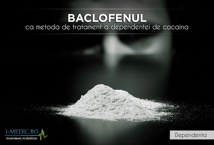 Initial prescris pentru ameliorarea spasmelor in cazul pacientilor diagnosticati cu scleroza musculara, baclofenul a ajuns sa fie al treilea medicament recomandat pentru tratarea dependentei de cocaina, dintr-o serie de 60. http://www.i-medic.ro/tutun-alcool-droguri/baclofenul-ca-metoda-de-tratament-a-dependentei-de-cocaina
