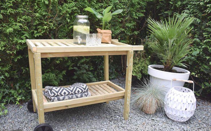 20 beste idee n over tuin planken op pinterest terracotta potten oppotten station en pottenbank - Tuin grind decoratief ...
