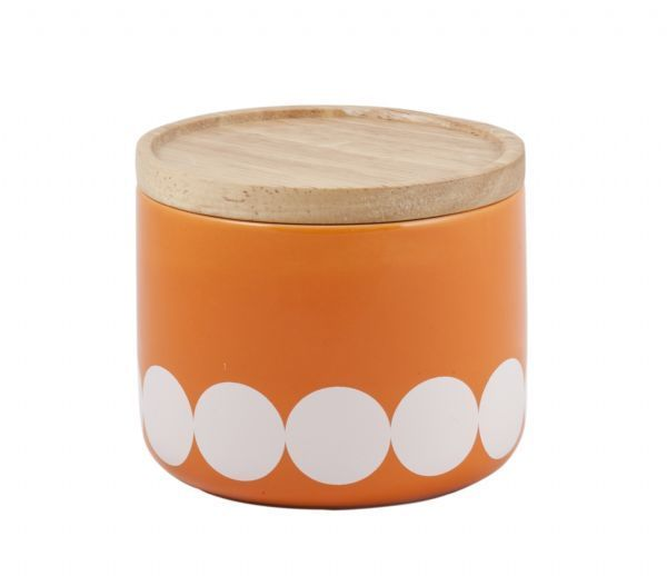 General Eclectic Small Canister - Orange/White Dot - All That I Need