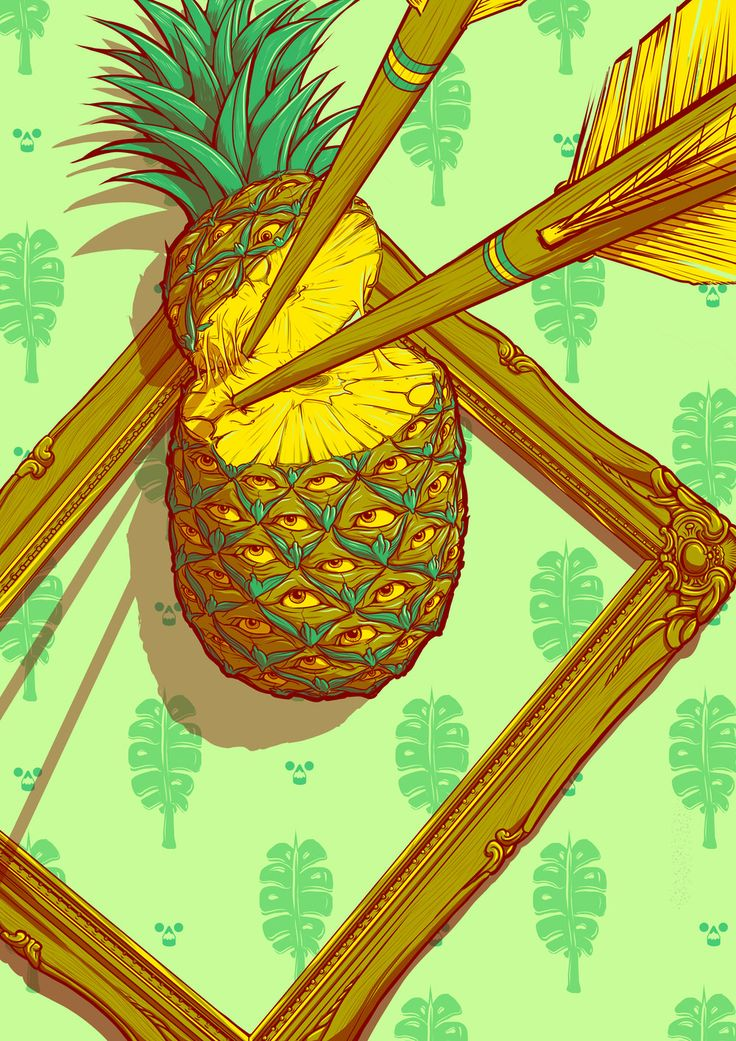 Psychedelic Pineapple Print