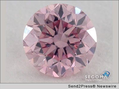 Segoma Imaging Technologies uses their 3D viewing technology to photograph this super rare pink diamond for their client DeBeers Auctiosn
