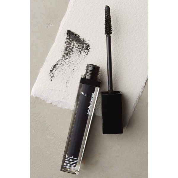 Make Beauty Defining Mascara ($25) ❤ liked on Polyvore featuring beauty products, makeup, eye makeup, mascara, black, conditioning mascara and smudge proof mascara