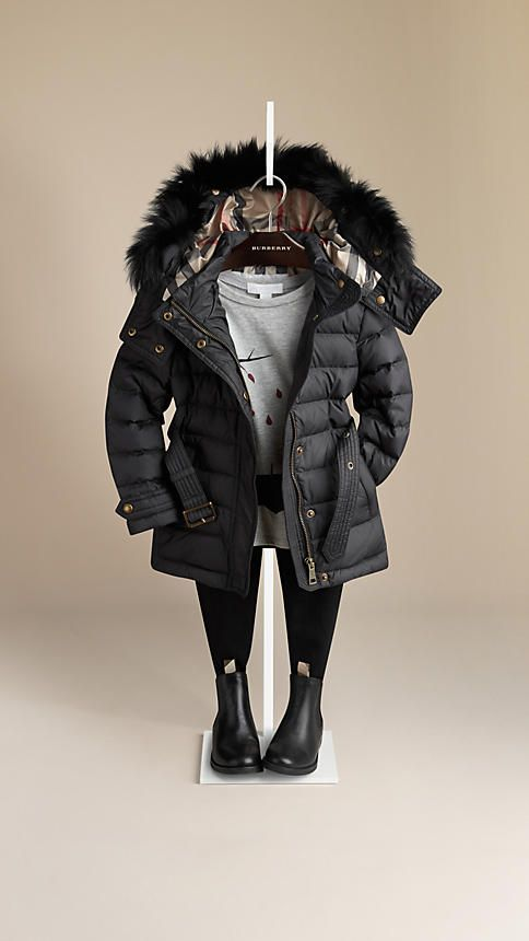 Fur Trim Puffer Jacket | Burberry