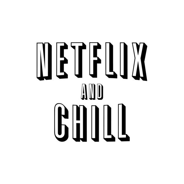 Netflix And Chill T-Shirt ($4) ❤ liked on Polyvore featuring tops and t-shirts