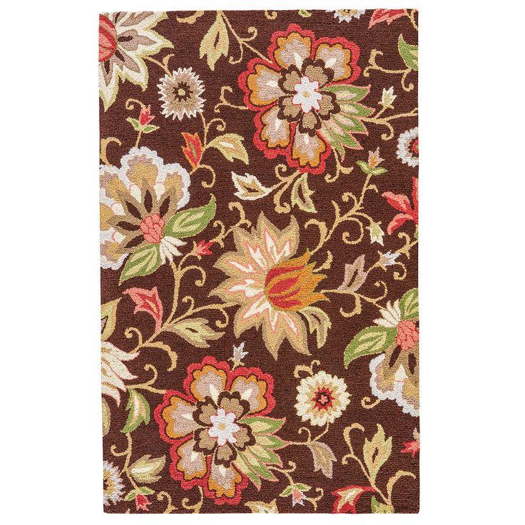 Santiago Brown Floral 2' X 3' Rug