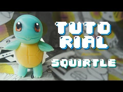 SQUIRTLE Pokemon Polymer Clay Tutorial // Porcelana Fria - YouTube