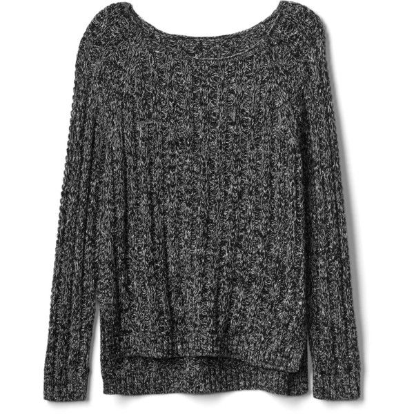 Gap Women Chunky Open Neck Sweater ($30) ❤ liked on Polyvore featuring tops, sweaters, shirts, jumpers, pink shirts, ribbed shirt, raglan sleeve shirts, marled sweater and ribbed sweater
