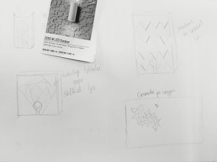 Skitsering efter idégenerering og mind mapping