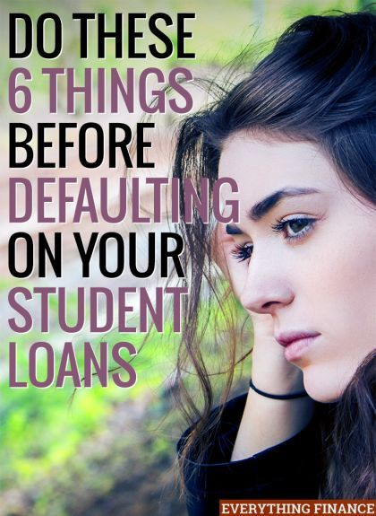 Are you having trouble paying your student debt back? Do these 6 things before defaulting, as doing so can ruin your credit. student loan debt student loan debt payoff #debt #studentloan