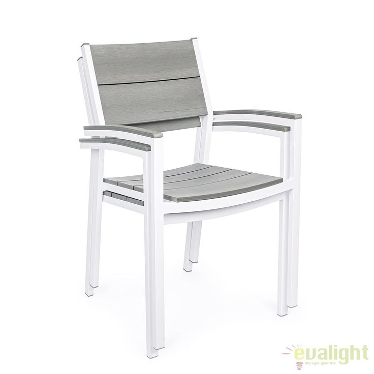 Scaun din aluminiu si Polywood ideal pentru terase ETHOS 0662123 BZ - Corpuri de iluminat, lustre, aplice