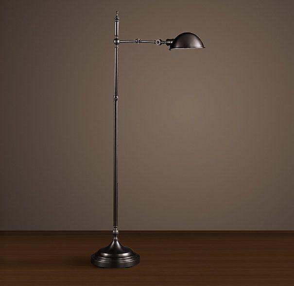 craftsman floor task lamp | Franklin Pharmacy Task Floor Lamp Bronze
