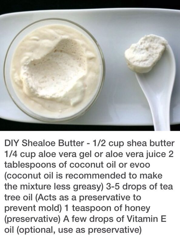 Diy shealoe butter 1 2 cup shea butter 1 4 cup aloe vera for 1 table spoon of butter